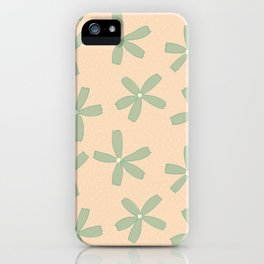 Green & Pink Floral iPhone Case