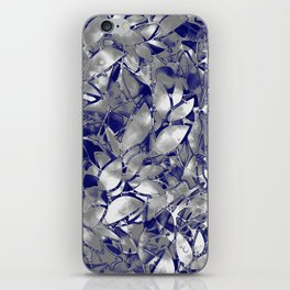 Grunge Art Silver Floral Abstract G169 iPhone Skin