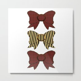 Vintage Purple Bows  Metal Print