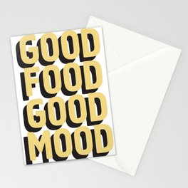 GOOD FOOD GOOD MOOD Stationery Cards
