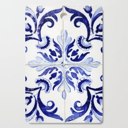 Azulejo V - Portuguese hand painted tiles Cutting Board