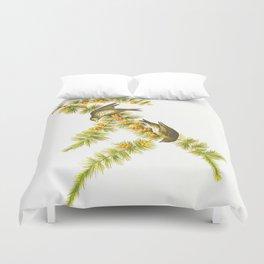 Pine Finch Bird Duvet Cover