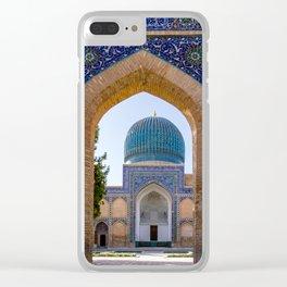 Gur-e Amir mausoleum of Timur - Samarkand, Uzbekistan Clear iPhone Case