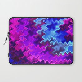 Abstract Underwater Wavy Colors Laptop Sleeve