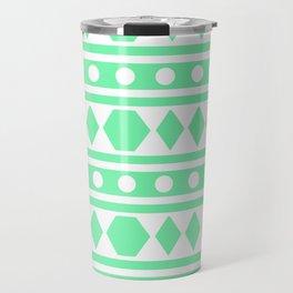 Mint Tribal Pattern Travel Mug
