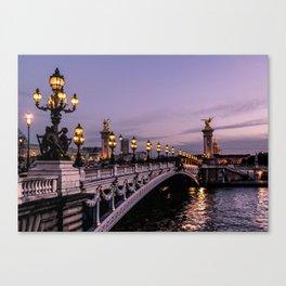 Nights in Paris Canvas Print