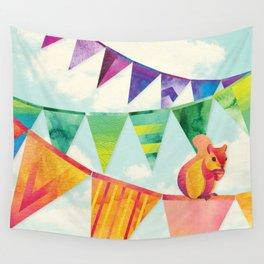 Shanti Sparrow: Hamish the Squirrel  Wall Tapestry