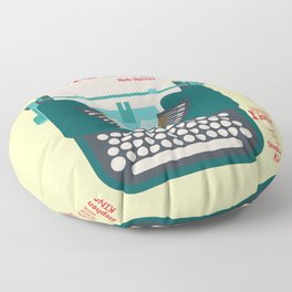 Misery, Horror, Movie Illustration, Stephen King, Kathy Bates, Rob Reiner, Classic book, cover Floor Pillow