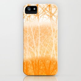 Frosted Winter Branches in Dusty Orange iPhone Case