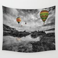 aviation Wall Tapestries featuring Free Spirits by Ian Mitchell