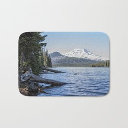 South Sister from Sparks Lake Bath Mat