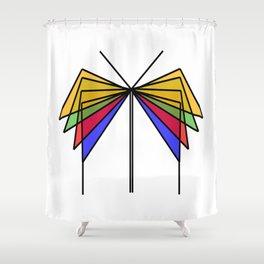 Glass Butterfly Shower Curtain