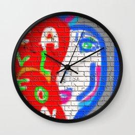 Graffiti Wall Never Alone Wall Clock