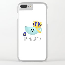 His Majest-tea Clear iPhone Case