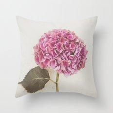 Beautiful Pink Hydrangea Throw Pillow