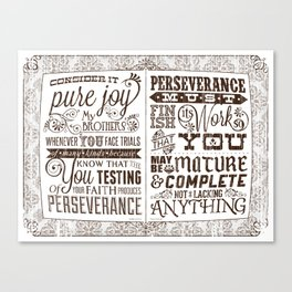 James 1:2-4 Canvas Print