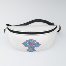 Winged Sacred Heart Cross Fanny Pack