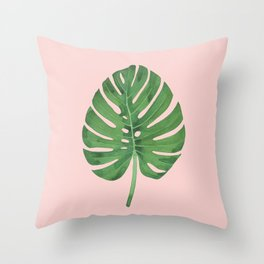 SWISS CHEESE PLANT 03, by Frank-Joseph Throw Pillow