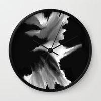 big bang Wall Clocks featuring Big Bang by Robert Morris
