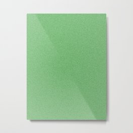Dense Melange - White and Green Metal Print