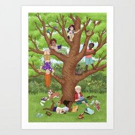Friendship Tree Art Print