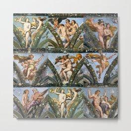 """Raffaello Sanzio da Urbino """"The Loggia of Psyche"""", 1517-18 Metal Print"""