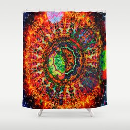 Ring Of Fire Mandala Shower Curtain