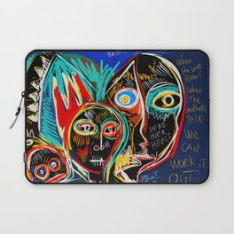 When the mothers talk street art graffiti Laptop Sleeve