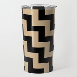 Black and Tan Brown Steps LTR Travel Mug