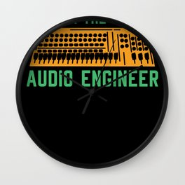 Mixing Console Analog Audio Hifi Design Funny sound engineer Wall Clock
