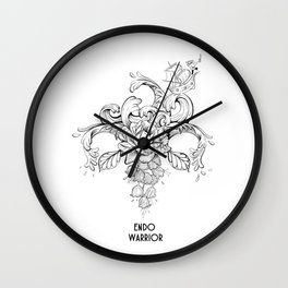 Endo Warrior Wall Clock