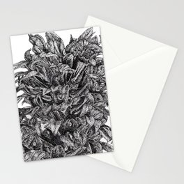 Lobelia Siphilitica Botanical Illustration in Dots Stationery Cards