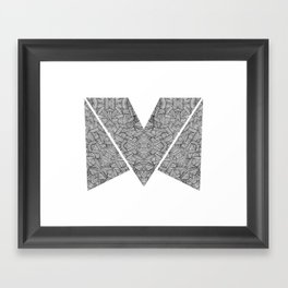 M zigzag Framed Art Print