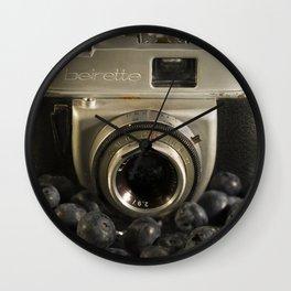 Blueberry Beirette Wall Clock