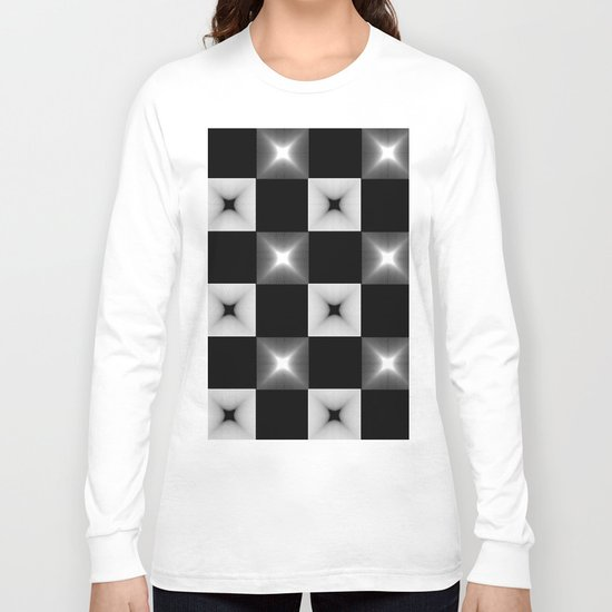 Black And White Illusion Pattern Long Sleeve T-shirt