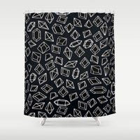 "diamond Shower Curtains featuring -diamond- by ""CVogiatzi."