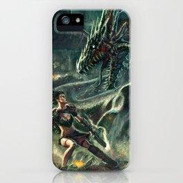Face a Dragon iPhone Case