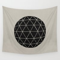 circle Wall Tapestries featuring Geodesic by Terry Fan