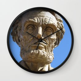Head of Lincoln on Lincoln Highway Wall Clock