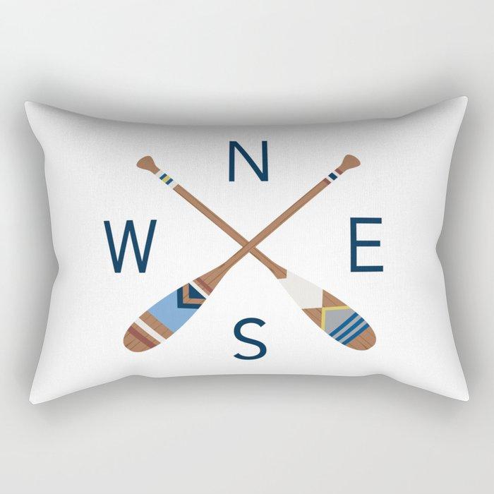 Oar Compass Rectangular Pillow