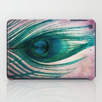 peacock feather iPad Cases featuring Peacock Feather by KunstFabrik_StaticMovement Manu Jobst