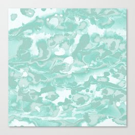 Watercolor - Soft Green Blue Canvas Print
