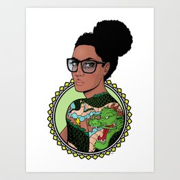My Body is a Canvas (Dragon Edition) Art Print