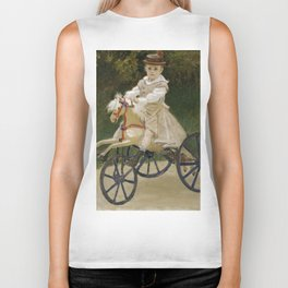 Monet, Jean Monet on his Hobby Horse, 1872 Biker Tank