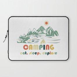 Camping. Eat. Sleep. Explore Laptop Sleeve