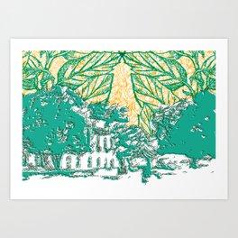Céu do avesso Art Print