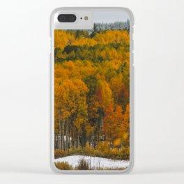 Aspen Autumn Clear iPhone Case