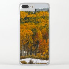 Aspen Autumn Clear iPhone Case