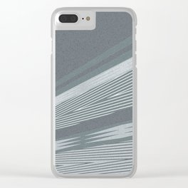 Abstract asymmetrical pattern in shades of gray . Clear iPhone Case