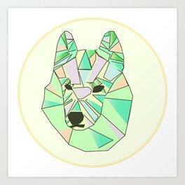 Bunter Hund Art Print